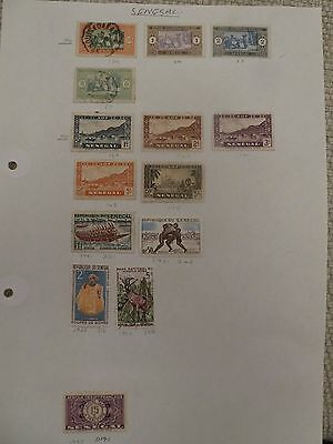 Senegal collection of 14 stamps
