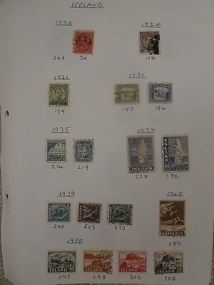 Iceland collection of 30 stamps