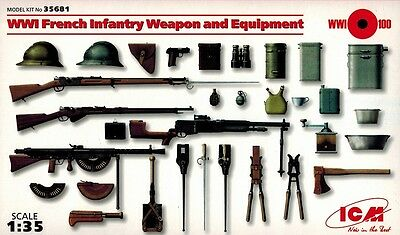 ICM 35681 - WWI French Infantry Weapon and Equipment - 1:35