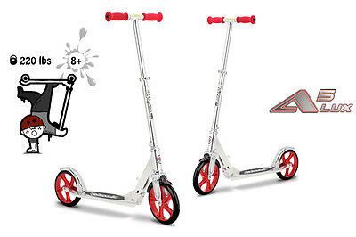 Razor A5 Lux Chrome/ Red Adult and Kids all round easy use kick/Push Scooter