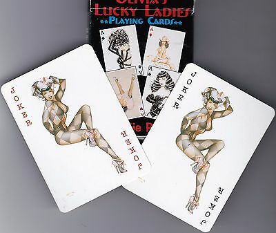 BETTIE PAGE Playing Cards* pinup*color painted    (Delilah Jones/Doris Gohlke)