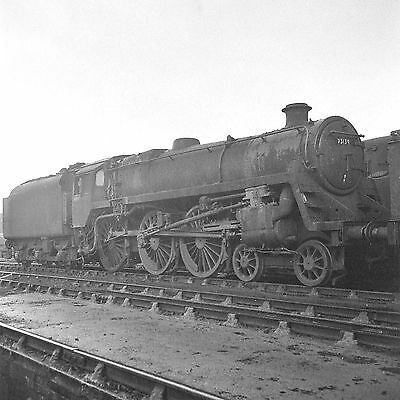Steam Railway Negative 73139 Patricroft 9H old shed with Copyright