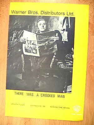 THERE WAS A CROOKED MAN PROGRAMME~ Warner Bros. Distributors Ltd