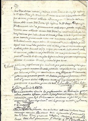 "18thc  Spanish Colonial  ""LEGAL DOCUMENT""   PERU  1770"