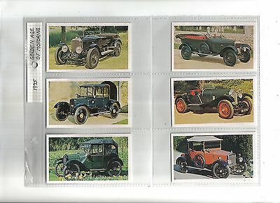 Golden Age of Motoring.Issued by Players(Doncella) 1975.Full set of 24
