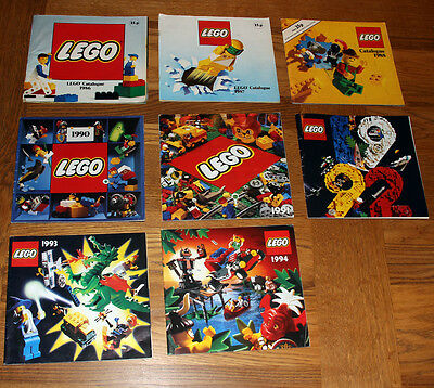 8 Lego Catalogues Year 1986 to 1994