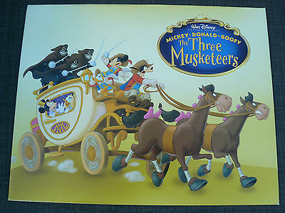 Walt Disney The Three Musketeers Lithograph With Envelope