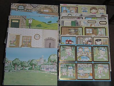 Kanban Patchwork Pals Toppers/Background Card - New