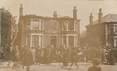 RP Postcard. Wrecked House, London Road, SOUTHEND ON SEA.