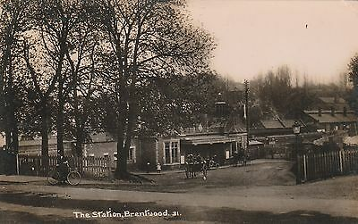 RP Postcard. Railway Station. BRENTWOOD. Posted in 1916.