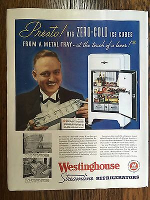 Vintage 1935 Westinghouse Refrigerator Advertisement