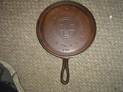 #7 Griswold 607 Handled Griddle, Erie Pa Usa