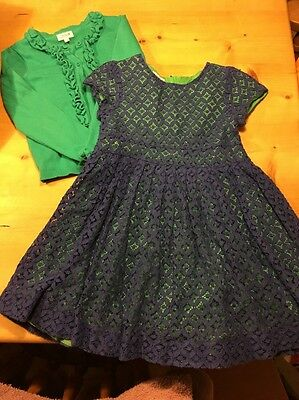 Boots Girls Party Occasion Size 4-5 Years. Dress And Cardigan Clothes Bundle