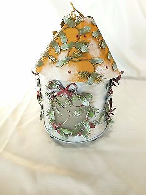 Hanging Candle Holder, Christmas Round House - No Res - Kathy Hatch - 2001