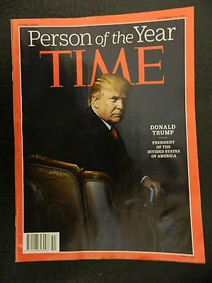 TIME MAGAZINE Donald Trump Person of the Year, December 2016.