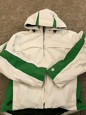 ladies White Cross Ski Coat size Small