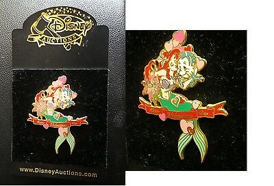 Disney Auctions (P.I.N.S.) - Ariel and Flounder Valentines Day Pin LE 1000