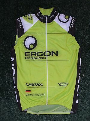 New Team Canyon Ergon Windproof Mesh Back Cycling Bike Hi  Viz Gilet ~ Medium