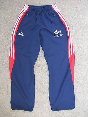"""Adidas Gb Great Britain Cycling Team Sky Athlete Issue Jogging Pants 26""""~30"""""""