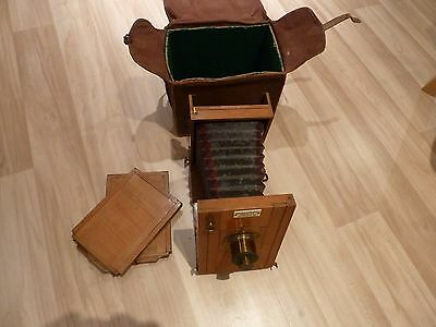 Rare 19thC Vintage Alfred Suck & Co Berlin Vintage Wooden Plate Camera Antique