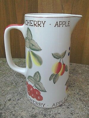 *● Hand Painted Fruit Jug Exclusive To Laura Ashley