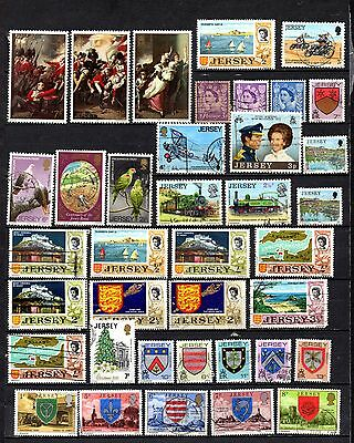 Jersey Mixed era collection from old album ,stamps as per scan(2226)