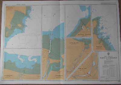 Admiralty Charts number 1349, 1350 & 1352 - Normandy & Dunkerque - 1986/1987