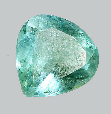 10.18 Ct Certified Natural Pear Shape Green Fluorite Loose Gemstone Stone -14683