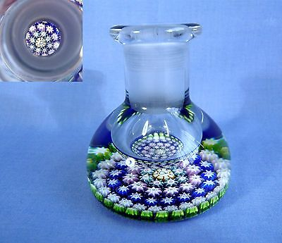 """Vintage Perthshire Paperweight Inkwell Bottle """" P """" Cane"""