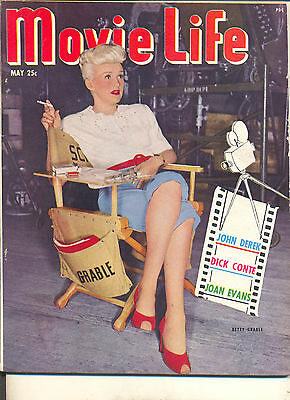 Movie Magazine -Movie Life 5/50 Betty Grable cover