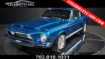 1968 Ford Mustang Fastback Mustang 1968 Shelby GT500 Fastback Mustang Acapulco Blue Las Vegas Manual