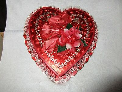 Vintage Valentine's Day Heart Shaped Candy Box