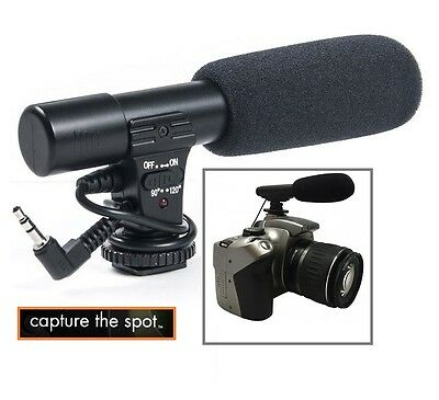 Professional Mini Condenser Microphone For Canon EOS 1Dx II M2 70D