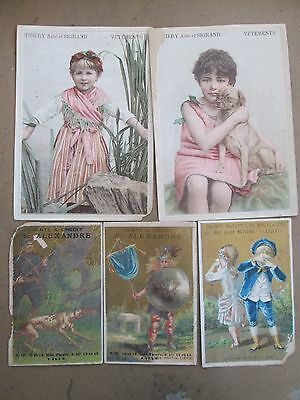 Lot 5 chromos Magasins LILLE 59 - THIERY SIGRAND / DEUX NATIONS / ALEXANDRE