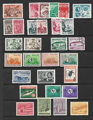 ALBANIA 1947-1965 stamps with better sets & values, incl.thematics,VLM & VFU