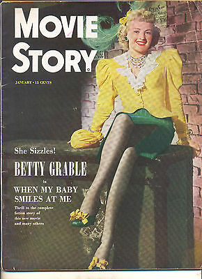 Movie Magazine - Movie Story 1/49 Betty Grable cover