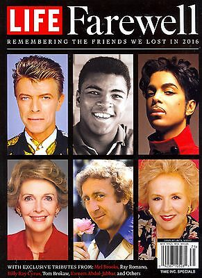 LIFE BOOKS Farewell 2016 Remembering The Friends We Lost In 2016 BOWIE PRINCE...