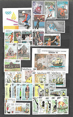 LAOS 1964 & 1992 Stamp Collection incl.2 Min.Shts, + 1 extra Min.Sh.,MNH