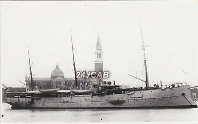 "ORIGINAL Photograph Imperial Russian Navy. ""Donetz"" Gunboat. In Venice. c 1914"