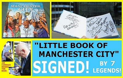 Little Book Of Manchester City SIGNED by 7 * exact proof * man mcfc mint legends