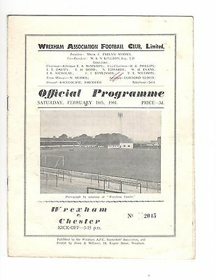 Wrexham v Chester 1960 - 1961