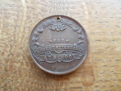 Vtg HULL EDUCATION COMMITTEE Bronze MEDAL Perfect Attendance for 4 Years VGC 2