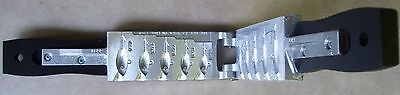 "Do-It Style ""H"" Jig Mold-5 Cavities-1 Ea of 3/8,1/2,5/8,3/4 & 1 oz.(Item #3319)"