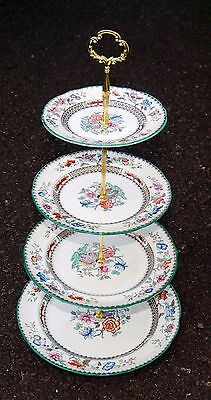 SPODE Copeland 4 Tier CHINESE ROSE Cake Stand Beautiful Condition