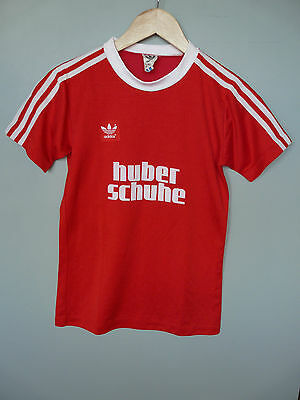 Vintage Adidas 80's Football Shirt Trikot Made In West Germany Sz Small* D3/4