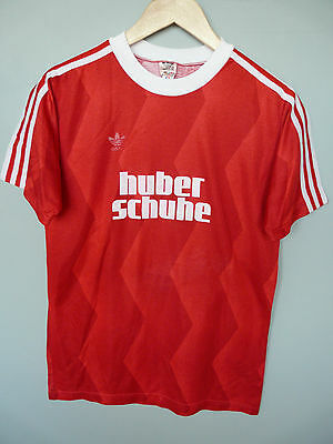 Vintage Adidas 80's Football Shirt Trikot Made In West Germany Sz Medium D5/6