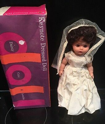 """Boxed Keynote Roddy Doll 13"""" in Height Original Brides Outfit"""