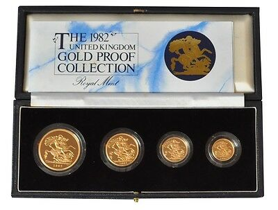 1982 Gold Proof Four Coin Set