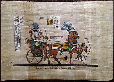 Ancient Egypt - Papyrus picture - Battle Of Kadesh - year 1247 BC - Rameses II