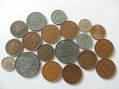 COLLECTION / BULK LOT OF HOLLAND / NETHERLANDS COINS - Ref 31